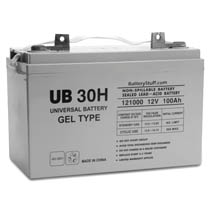 12V 100AH GROUP 30H GEL BATTERY DO NOT SELL FOR GEM CAR