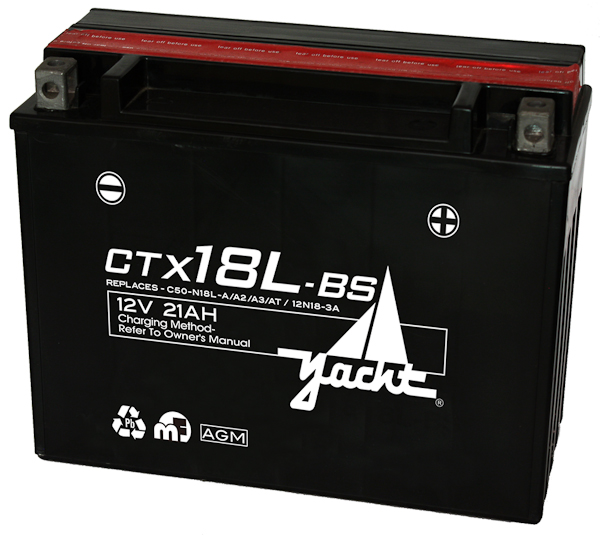 (USE CTX24HL-BS) 12V AGM MOTORCYCLE BATTERY