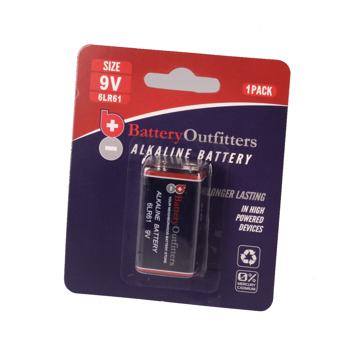 9V ALKALINE SINGLE PACK