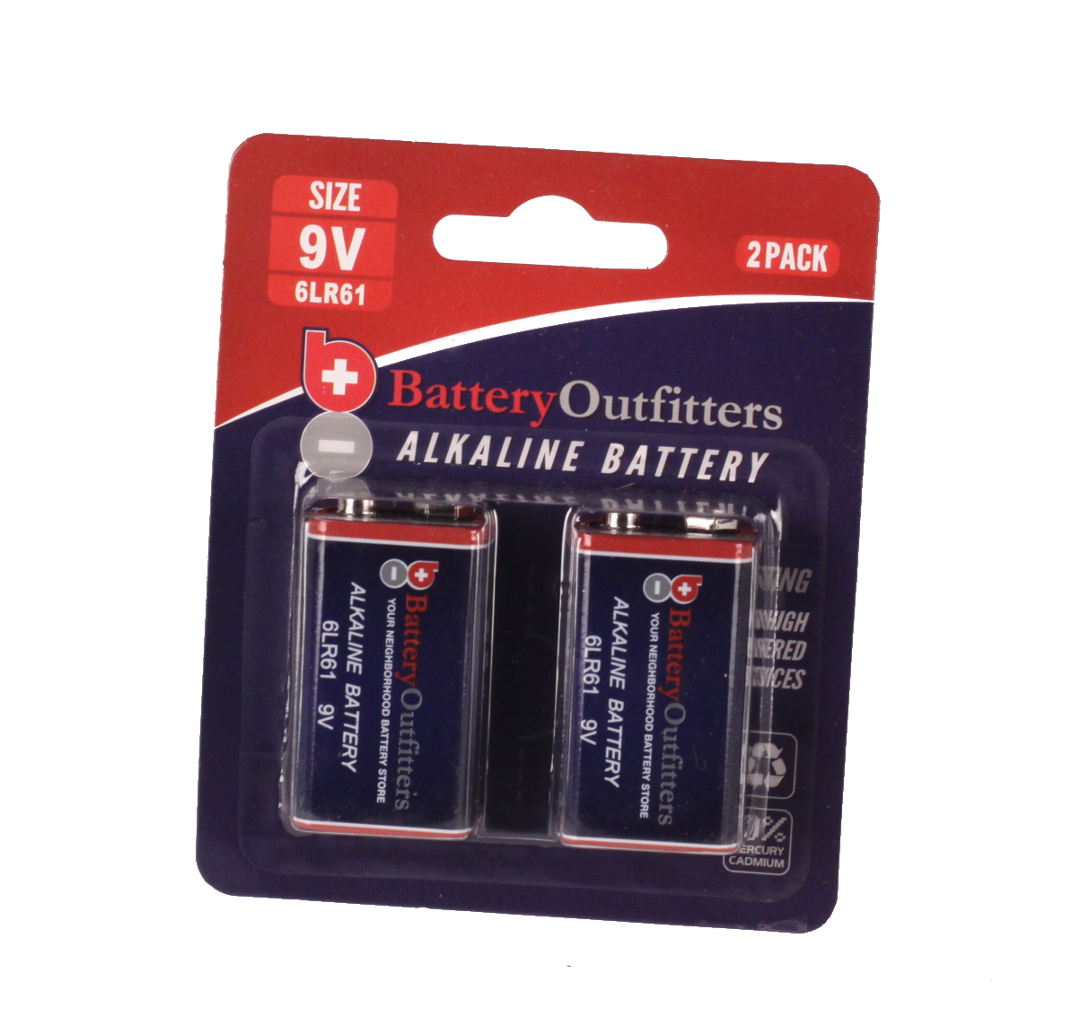 9V VALUE PACK 2 ALKALINE BATTERIES