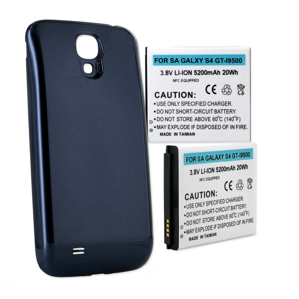 SAMSUNG GALAXY S4 EXTENDED BATTERY BLUE COVER