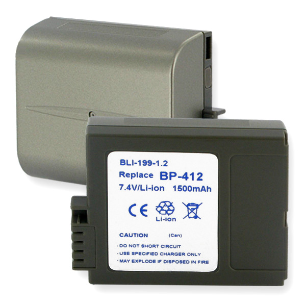 REPLAC. BATTERY FOR CANON BP-412