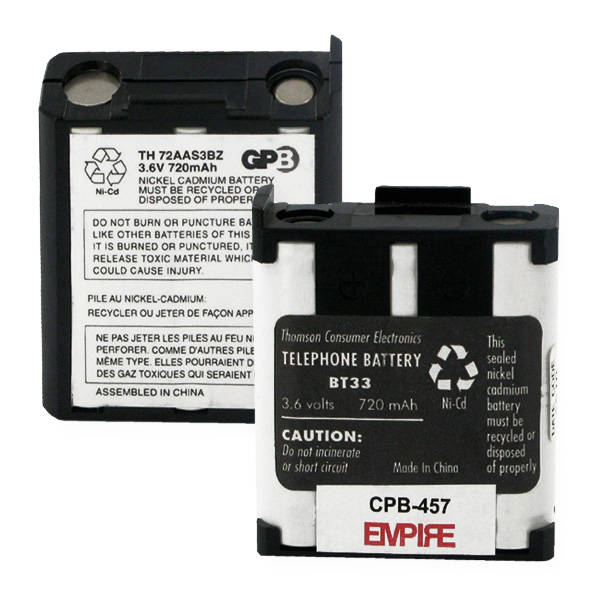 GE BT-33 REPLACEMENT BATTERY