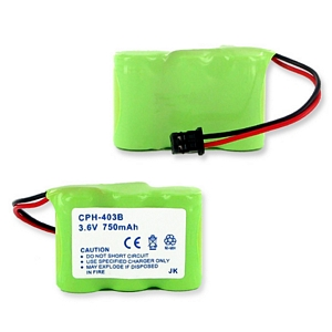 3X2/3AA NIMH 750MAH/B CONNECTOR