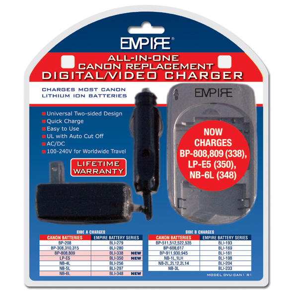 AC/DC UNIVERSAL CHARGER FOR CANON