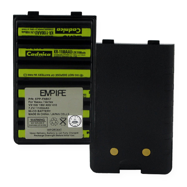 NI-CD BATTERY FOR YAESU VX160  7.2V 1100MAH