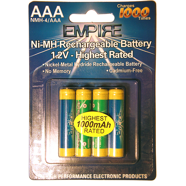 4AAA NIMH RECHARGEABLE PER CARD