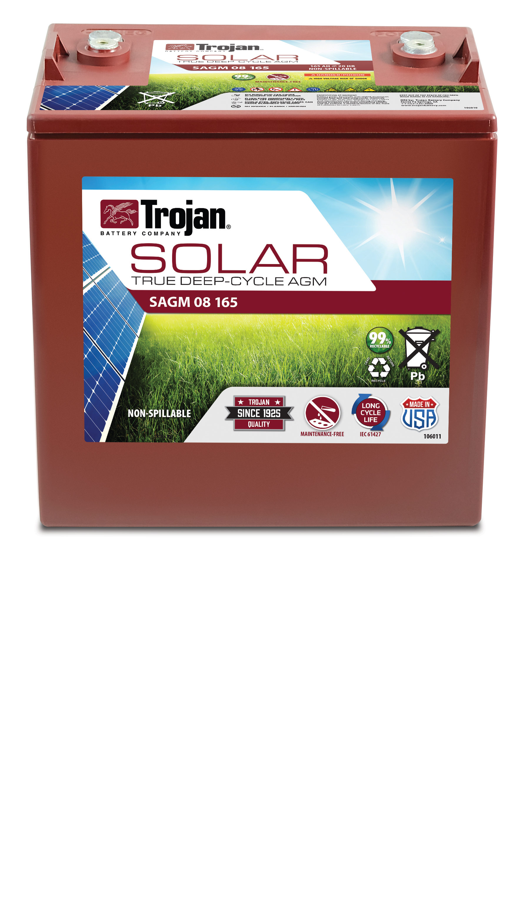 TROJAN SOLAR AGM LINE DEEP CYCLE 8V