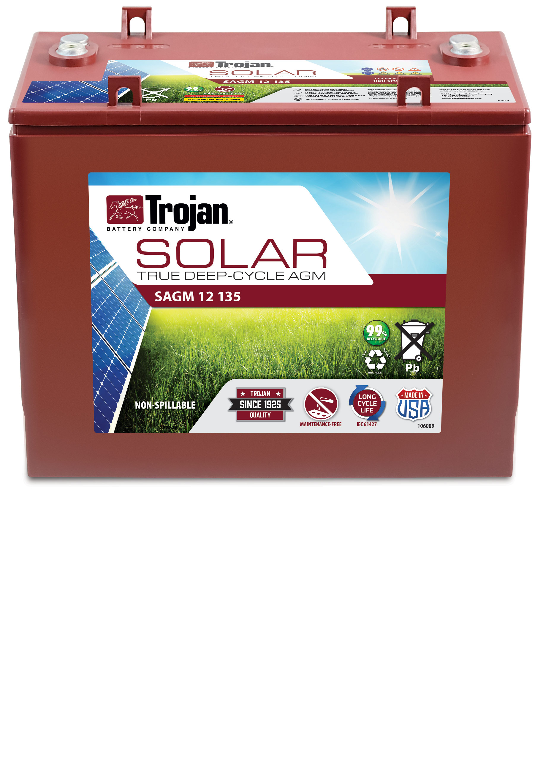 TROJAN SOLAR AGM LINE DEEP CYCLE 12V