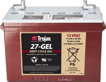 GRP 27 TROJAN BRANDED GEL BATTERY