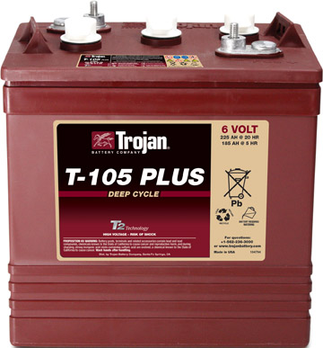 6V TROJAN BRANDED DEEP CYCLE BATTERY