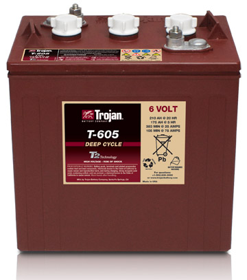 6V TROJAN  DEEP CYCLE BATTERY