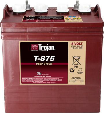 8V TROJAN  DEEP CYCLE BATTERY