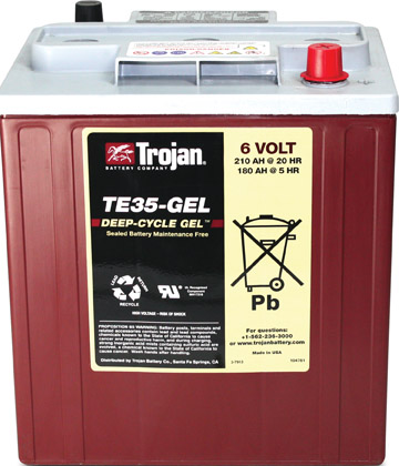 TROJAN BRANDED TE35 6V DEEP CYCLE BATTERY
