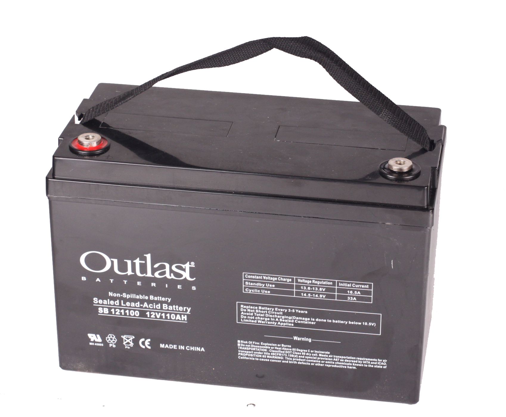 12V 110AH SLA BATTERY WITH BUTTON TERMINAL