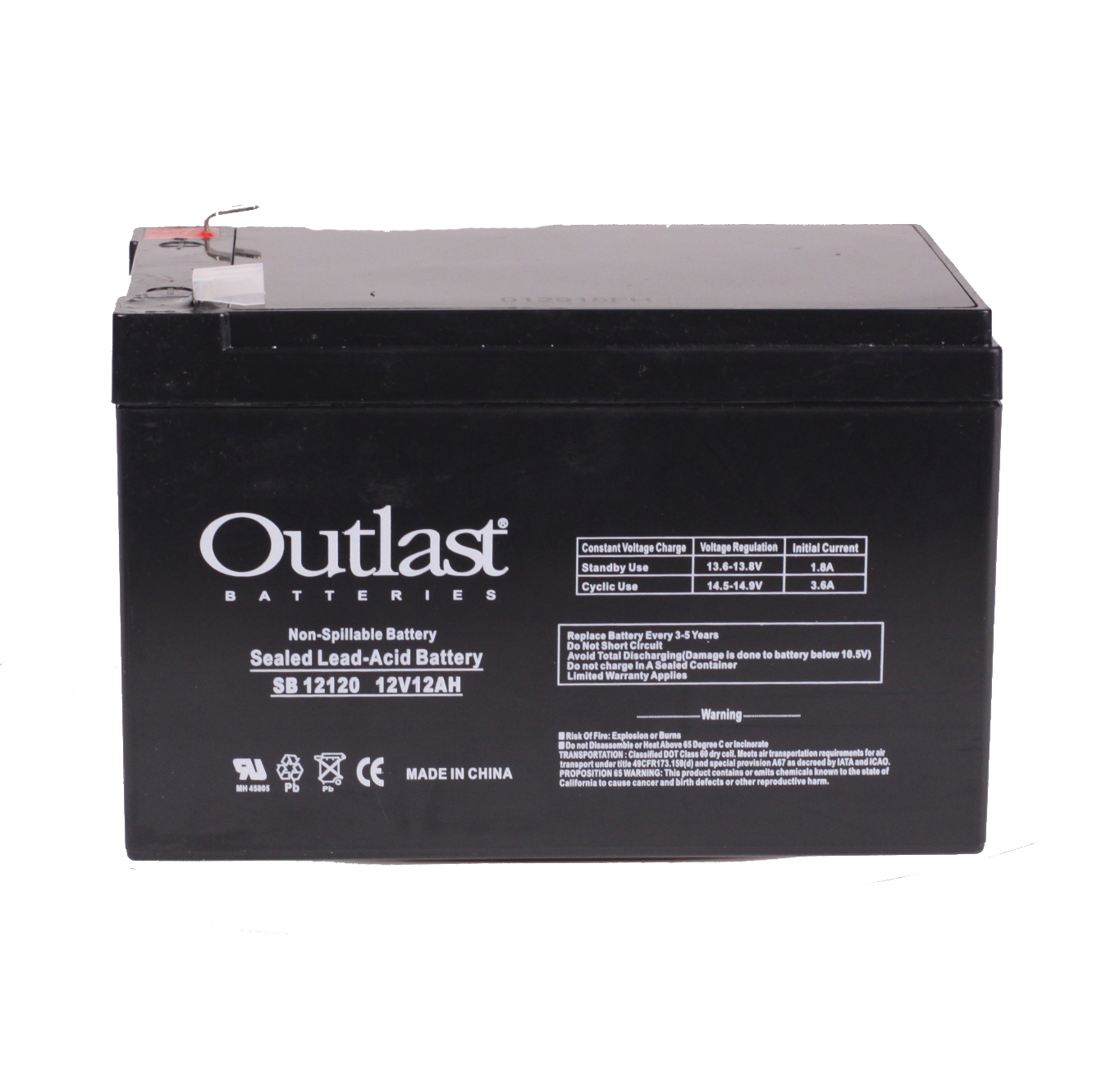12V 12AH FLAME RETARDANT BATTERY